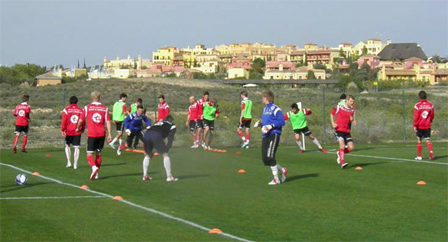 Players training at the Desert Springs Football Academy