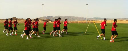 UD Almer?a training at the Desert Springs Football Academy