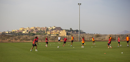 UD Almeria Training at Desert Springs Football Academy