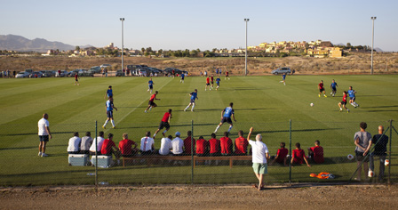 UD Almeria vs Club Athletico Pulpileno Pre-season Friendly Match at the Desert Springs Football Academy