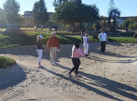 Las estrellas del LET dando clases a los amateurs del ?Golf 4 All? Pro-Am en la Academia de Golf