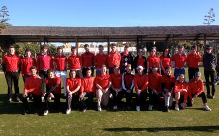 Three Hartpury College Golf Academy PGA Instructors accompanied twenty-seven students aged between 15 - 18 years for 5-days of warm weather winter training at the Desert Springs Resort between 1st and 6th February