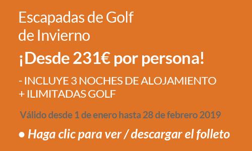 Escapadas de golf de Invierno 2019