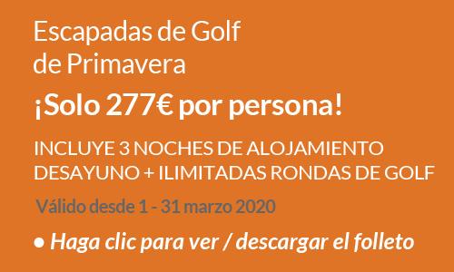 Escapadas de golf de Primavera 2020