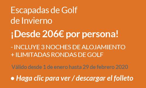 Escapadas de golf de Invierno 2020