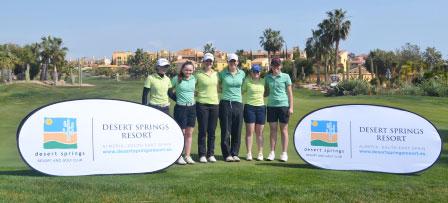Las jugadoras de la ILGU, de izquierda a derecha: Jessica Ross, Valerie Casey, Paula Grant, Ciara Casey, Mairead Martin & Annabel Wilson