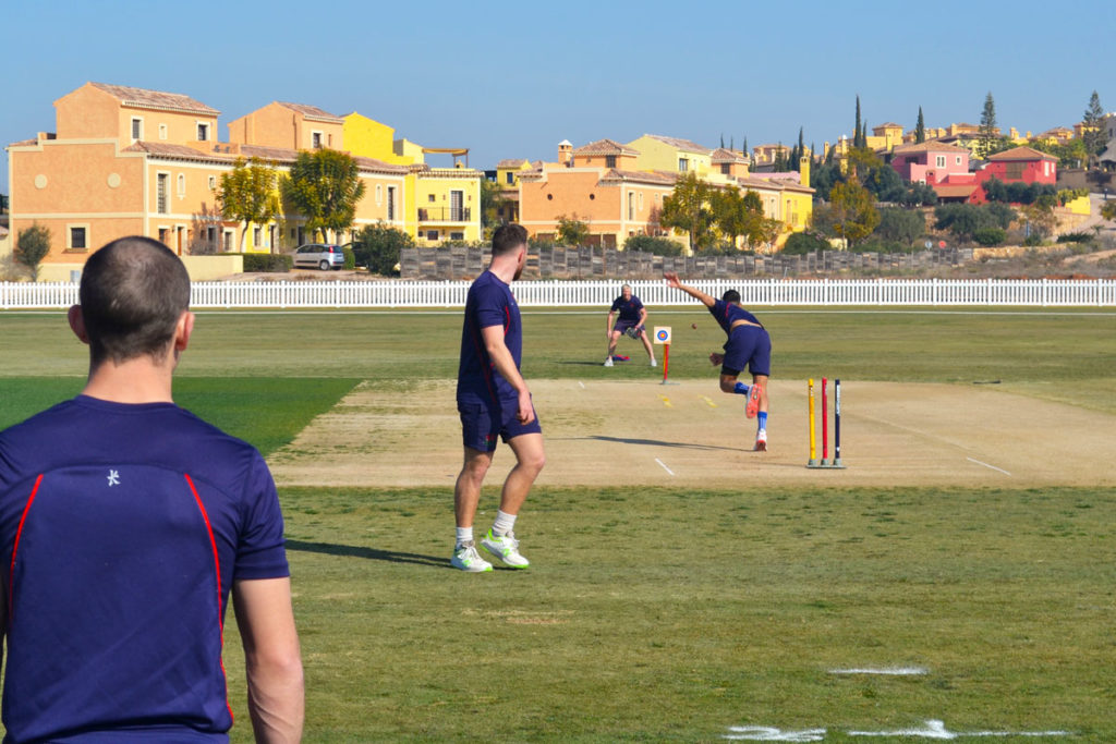 3fb4b370b5b Lancashire CCC  Bowl Through  training session taking place at the Desert  Springs Cricket Ground
