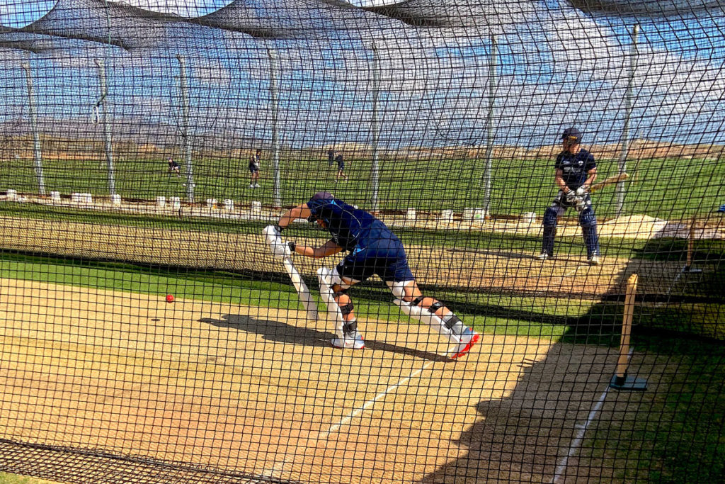 Derbyshire-County-Cricket-Club-'Grass-Wicket'-Training-at-the-Desert-Springs-Cricket-Academy