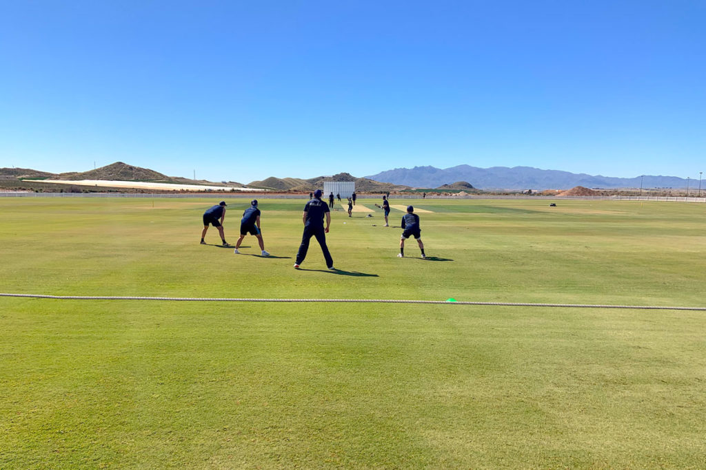 Derbyshire-County-Cricket-Club-'Slip-Catch'-Training-at-the-Desert-Springs-Cricket-Ground