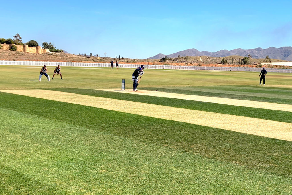 Derbyshire-County-Cricket-Club-training-session-taking-place-at-Desert-Springs-Cricket-Ground