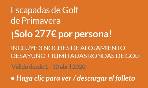 Escapadas de golf de Primavera Abril 2020