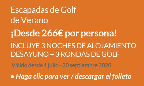 Escapadas de golf de Verano 2020
