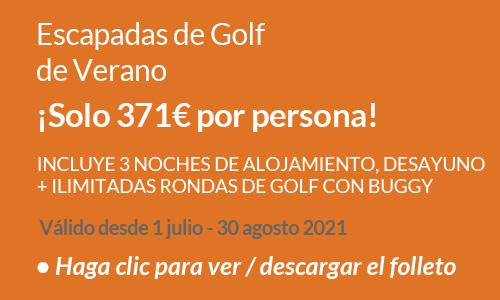 Escapadas de golf de Verano 2021