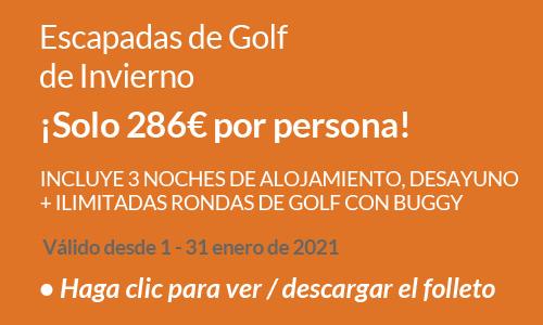 Escapadas de golf de Invierno 2021