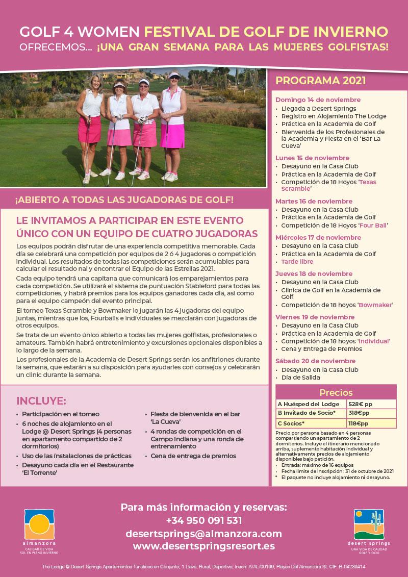 G4W Festival de Golf de Invierno 2021 Oferta