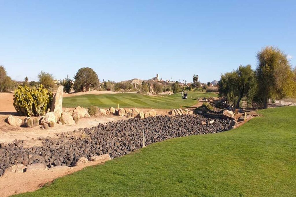 HOLE 13 DRY RIVER BED